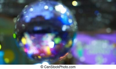 Discoball at the party indoors