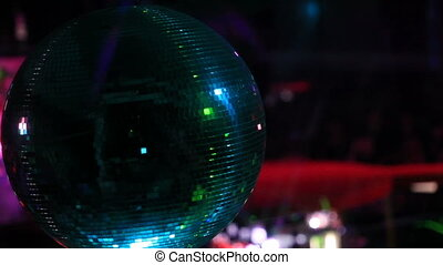 Discoball in a dance club
