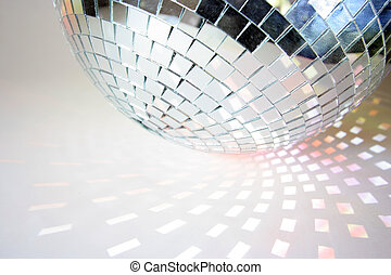 discoball lights - shapes of light cast by a discoball