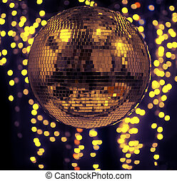discoball with cool abstract light background