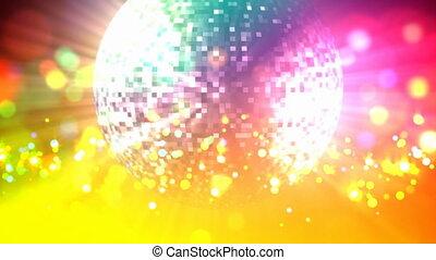discokugel, schleife