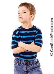 Discontent little boy