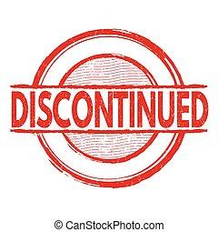 Discontinued grunge stamp