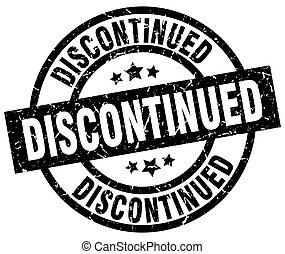 discontinued round grunge black stamp