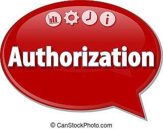 discorso, affari, bolla, illustrazione, autorizzazione, ...