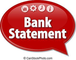 discorso, affari, bolla, illustrazione, banca, termine, ...