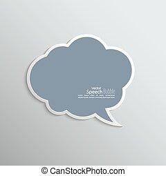 discorso, astratto, carta, bolla, fondo