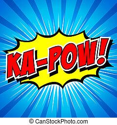discorso, comico, bolla, ka-pow!