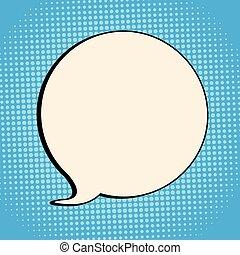 discorso, comico, bolla, retro, halftone