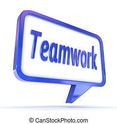 """discorso, esposizione, bolla, """"teamwork"""""""