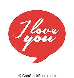 discorso, messaggio, bolla, amore, icona