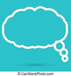 discorso, nuvola, icona