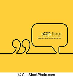 discorso, quotazione, bolla, marchio