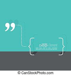 discorso, quotazione, bubble., marchio