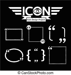 discorso, quotazione, icona, bolla, marchio