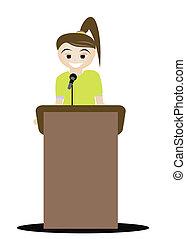 discorso, trasmettere, distribuire