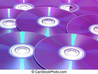 discos compactos, plano de fondo