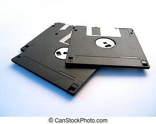 discos flexibles, tres