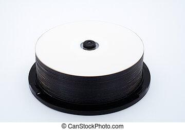 discos, pila, cds