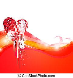 discoteca, corações
