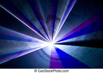 discoteca, e, laser, mostra