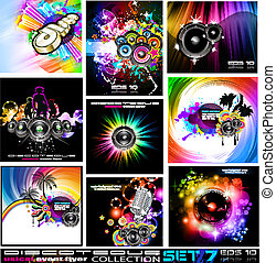 Discoteque Flyers Collection - Set 7 - 9 Abstract Music...