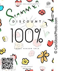 Discount 100. Discounts price tag. Black Friday.  Clearance Sale.