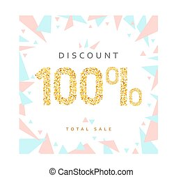 Discount 100. Discounts price tag.  Black Friday