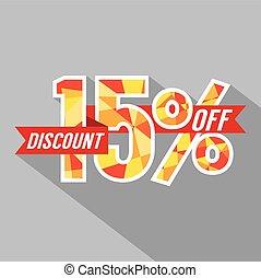 Discount 15 Percent Off.