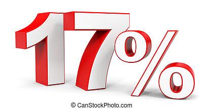 Discount 17 percent off. 3D illustration.