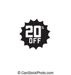 Discount 20% off Label Vector Template Design Illustration