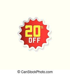 Discount 20% Off Vector Template Design Illustration