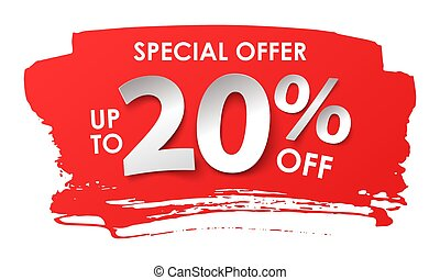Discount 20 percent in paper style