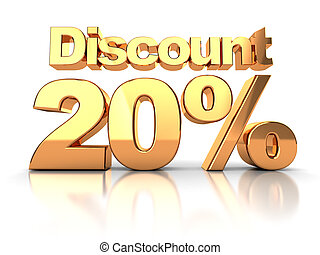 Discount 20 percent - Discount coupon with 20 percent on a...