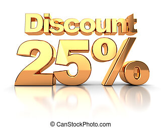 Discount 25 percent - Discount coupon with 25 percent on a...