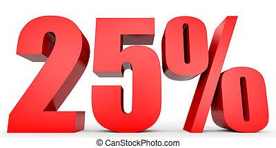 Discount 25 percent off. 3D illustration. - Discount 25...