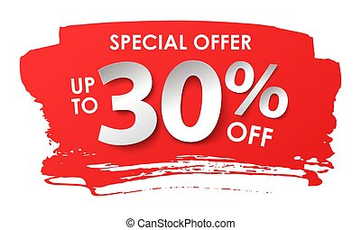 Discount 30 percent in paper style