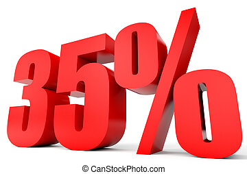 discount 35 percent off 3d illustration discount 35 percent off