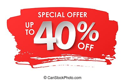 Discount 40 percent in paper style