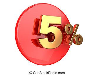 Discount 5 percent