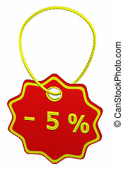 Discount - 5 % tag