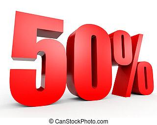 Discount 50 percent off. 3D illustration. - Discount 50...
