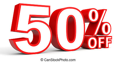 Discount 50 percent off