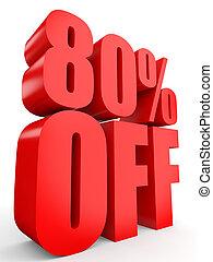 Discount 80 percent off