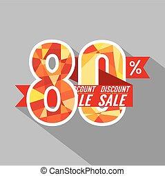 Discount 80 Percent Off.