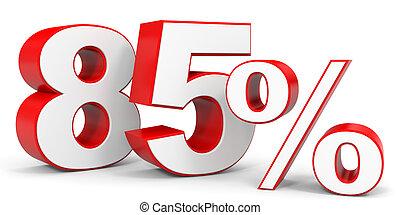 percentage sign 85 percent 3d render green 85 percent percentage