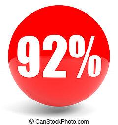Discount 92 percent off. 3D illustration. - Discount 92...