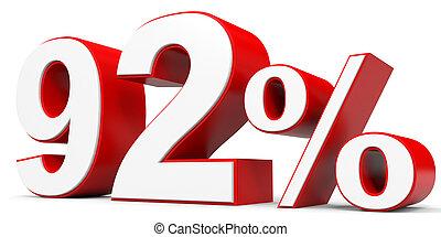 Discount 92 percent off. 3D illustration.