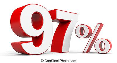 Discount 97 percent off. 3D illustration.
