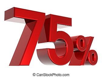 discount - A 3d seventy-five percent concept